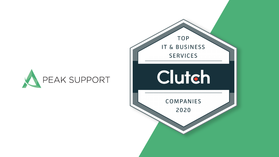 Peak Support Recognized as Top Global BPO by Clutch Awards